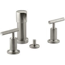Purist Bidet Faucet with Vertical Spray and Lever Handles