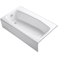 """Villager 60"""" X 34-1/4"""" Alcove Bath with Extra 4"""" Ledge and Left-Hand Drain"""