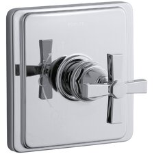 Pinstripe Pure Rite-Temp Pressure-Balancing Valve Trim with Cross Handle, Valve Not Included