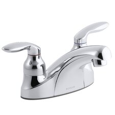 Coralais Centerset Lavatory Faucet with Lever Handles, Less Drain, Lift Rod Hole with Plug