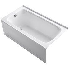 "Bancroft 60"" X 32"" Alcove Bath with Integral Apron, Tile Flange and Left-Hand Drain"