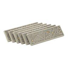 Gilded Meadow Transluscent Cashmere Decorative Tile (Set Of 6)