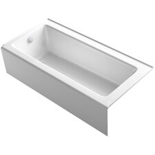 "Bellwether 66"" x 32"" Alcove Bath with Integral Apron and Left-Hand Drain"