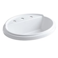 """Tresham Oval Self-Rimming Lavatory with 8"""" Centers"""