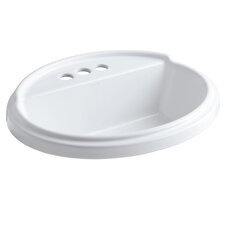 "Tresham Oval Self-Rimming Lavatory with 4"" Centers"