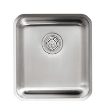 "Undertone 15-3/4"" X 17-1/2"" X 9-5/8"" Medium Squared Under-Mount Single-Bowl Kitchen Sink"