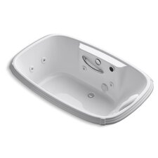"""Portrait 67"""" X 42"""" Drop-In Whirlpool Bath with Heater, Grip Rail Drillings, Left-Hand Pump and Massage Experience"""