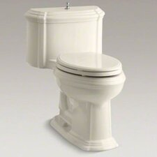 Portrait Comfort Height One-Piece Elongated 1.6 GPF Toilet with Class Five Flush Technology, Lift Knob Actuator and Glenbury Quiet-Close Seat with Quick Release Functionalty