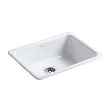 "Iron/Tones 24-1/4"" X 18-3/4"" X 8-1/4"" Top-Mount/Under-Mount Single-Bowl Kitchen Sink"