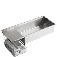 "Stages 45"" x 18.5"" Under-Mount Single-Bowl with Wet Surface Area Kitchen Sink"