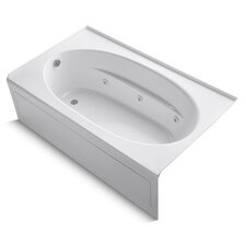 """Windward 72"""" X 42"""" Alcove Whirlpool Bath with Integral Apron, Left-Hand Drain and Heater"""