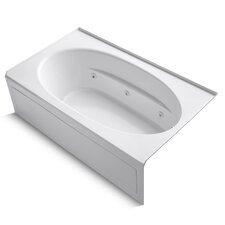 """Windward 72"""" X 42"""" Alcove Whirlpool Bath with Integral Apron, Right-Hand Drain and Heater"""
