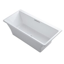 "Rêve 67"" X 32"" Freestanding Bath with Brilliant Blanc Base Without Jet Trim"