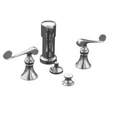 Revival Bidet Faucet with Vertical Spray and Scroll Lever Handles