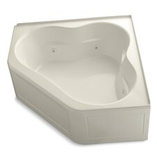 "Tercet 60"" X 60"" Whirlpool Bath with Tile Flange, Heater and Center Drain"