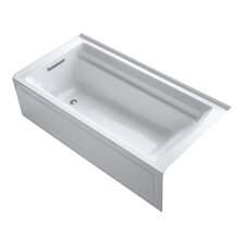 "Archer 72"" X 36"" Alcove Bath with Integral Apron and Left-Hand Drain"