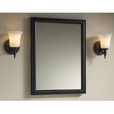 "20"" W x 26"" H Aluminum Single-Door Medicine Cabinet with Oil-Rubbed Bronze Framed Mirror Door"