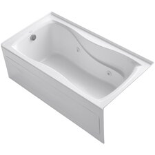 """Hourglass 60"""" X 32"""" Alcove Whirlpool Bath with Integral Apron with Tile Flange and Left-Hand Drain"""