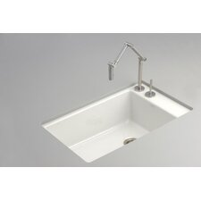 "Indio 33"" x 21.13"" Under-Mount Single-Bowl Kitchen Sink with 2 Faucet Holes"