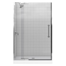 "Purist Pivot Shower Door, 72-1/4"" H X 45-1/4 - 47-3/4"" W, with 3/8"" Thick Crystal Clear Glass"