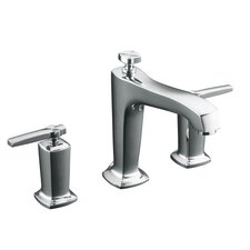 Margaux Deck-Mount High-Flow Bath Faucet Trim with Lever Handles, Valve Not Included