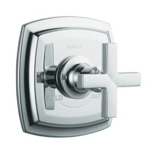 Margaux Thermostatic Valve Trim with Cross Handle, Valve Not Included