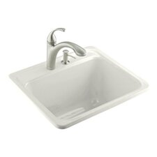 "Glen Falls 25"" x 22"" Single Hole Self-Rimming Utility Sink"