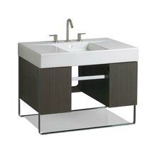 "Traverse 30"" Wall Hung Single Hole Bathroom Vanity Set"