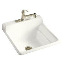 "Bayview 25.5"" x 24"" Single Hole Faucet Drilling Self Rimming Utility Sink"
