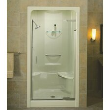 "Purist Pivot Shower Door, 72"" H X 36 - 39"" W, with 1/4"" Thick Crystal Clear Glass"