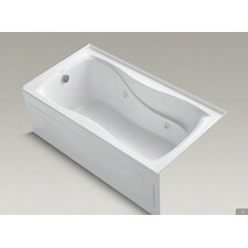 """Hourglass 60"""" X 32"""" Alcove Whirlpool Bath with Integral Apron, Left-Hand Drain and Heater"""