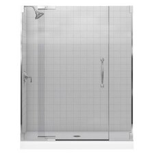"Finial 59.75"" W x 72.25"" H Pivot Shower Door with 0.375"" Glass"