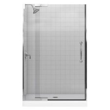 "Finial 47.75"" W x 72.25"" H Pivot Shower Door with 0.5"" Glass"