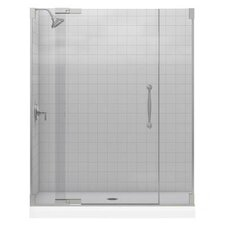 "Finial 59.75"" W x 72.25"" H Pivot Shower Door with 0.5"" Glass"