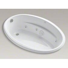 """6040 60"""" X 40"""" Drop-In Whirlpool Bath with Custom Pump Location and Heater"""