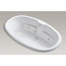 "<strong>Kohler</strong> Proflex 72"" Drop In Jetted Whirlpool Bath Tub with Center Drain and Heater"
