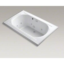 "<strong>Kohler</strong> Memoirs Collection 66"" Drop In Jetted Whirlpool Bath Tub with Center Drainwith Right Back Pump Placement"