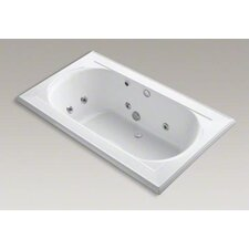 "<strong>Kohler</strong> Memoirs Collection 72"" Drop In Jetted Whirlpool Bath Tub with Center Drain with Left Front Pump Placement"