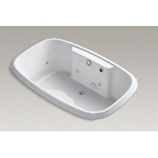"<strong>Kohler</strong> Portrait Collection 67"" Drop In Jetted Whirlpool Bath Tub with Center Drain and Left Front Pump"