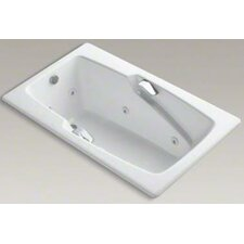 """Steeping Collection 60"""" Drop In Jetted Whirlpool Bath Tub with Right Side Drain with Right Pump Placement"""