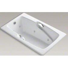 """Steeping Collection 60"""" Drop In Jetted Whirlpool Bath Tub with Right Side Drain and Left Front Pump Placement"""