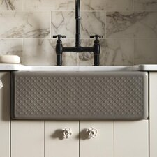 "Evenweave Design On Alcott 25"" x 22"" Tile-In Kitchen Sink with 4 Faucet Holes"