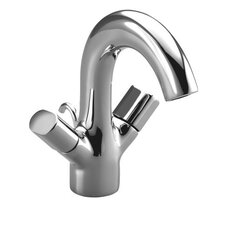 Oblo Single-Hole Monoblock Bathroom Faucet with Oval Handles