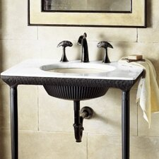 Lotus Pool Iron Console Table