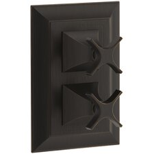 Memoirs Stacked Valve Trim with Stately Design and Cross Handles, Valve Not Included