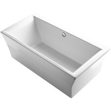 "Stargaze 72"" x 36"" Freestanding Bath with Fluted Shroud and Center Drain"