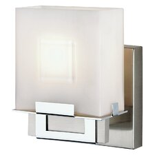 Square 1 Light Bath Vanity Light