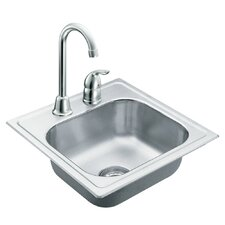 "2000 Series 15"" x 15"" Bowl Drop in Kitchen Sink"