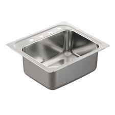 "1800 Series 25"" x 22"" Single Bowl Drop in Kitchen Sink"