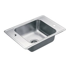 "Commercial 24"" x 17"" 20 Gauge Single Bowl Classroom Sink"